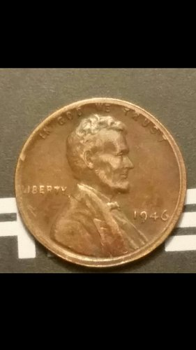 1946-P penny full collar error