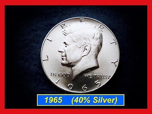 1965-P  Kennedy Half Dollar •• Uncirculated •• (40% Silver)  (#1525)