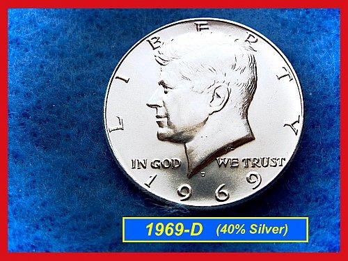 1969-D  Kennedy Half Dollar •• Uncirculated •• (40% Silver)  (#1526)