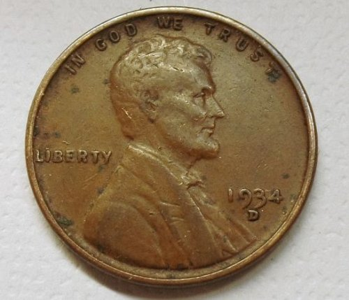 1934 D Lincoln Wheat Cent ...