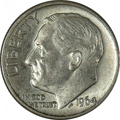 1964 D Roosevelt Dime, (Item 66)