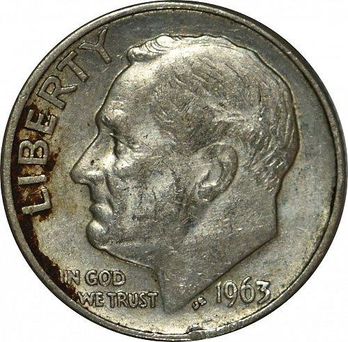 1963 D Roosevelt Dime, (Item 69)