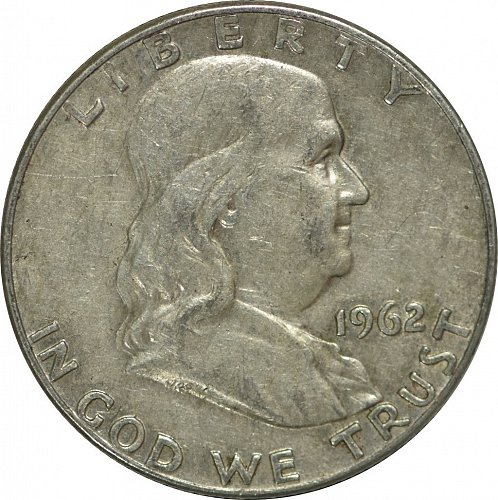 1962 D Franklin Half Dollar,  (Item 179)