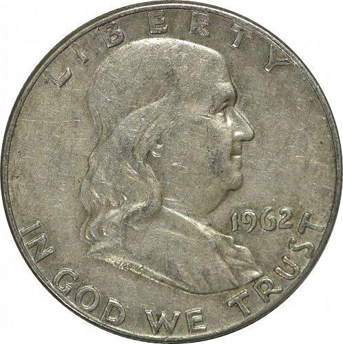1962 D Franklin Half Dollar,  (Item 179)