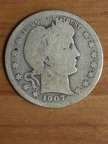 1907 Barber Quarter