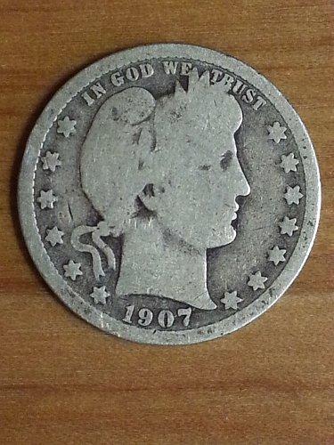 1907-O Barber Quarter