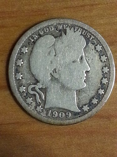 1909-O Barber Quarter