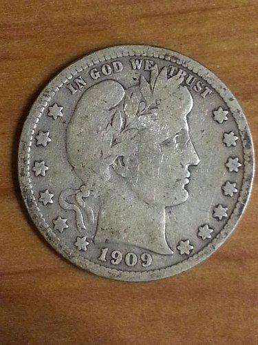 1909-D Barber Quarter