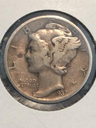 1937 P Mercury Dime