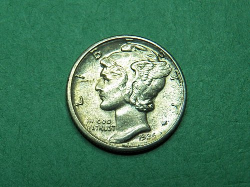 1936 D Mercury Dime Almost Uncirculated Coin   h25