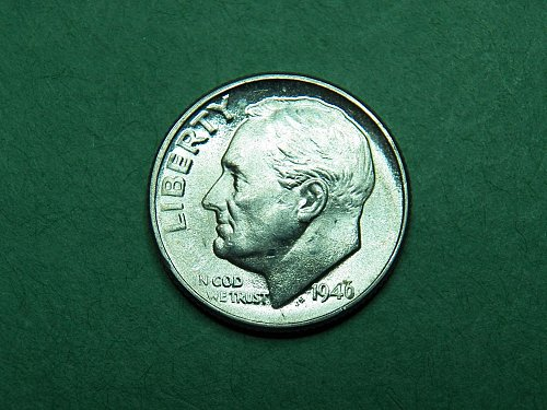 1946 D Roosevelt Dime Brilliant Uncirculated Coin   h27