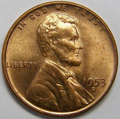 1953 D Lincoln Wheat Cent #8