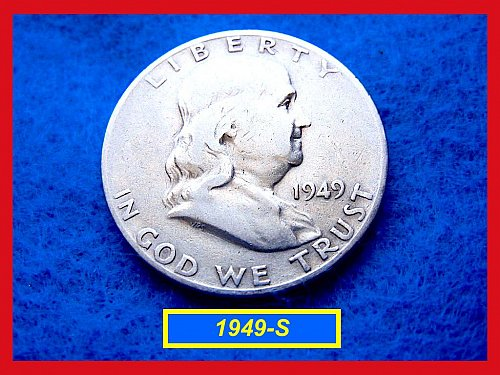 1949-S  Franklin Half Dollars ––– Circulated (#1269)