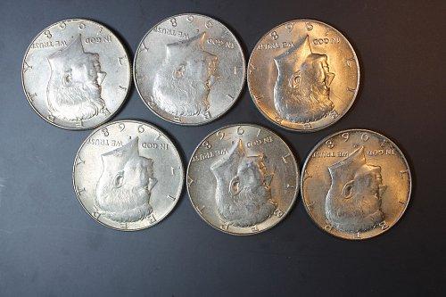 1968 D Kennedy Half Dollars