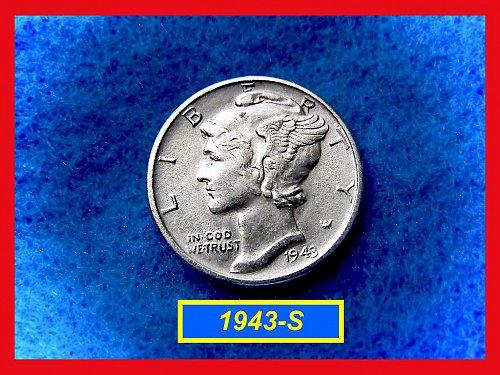 1943-S Mercury Dime   🎯   (#3359)