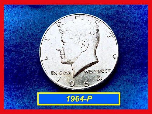 1964-P  Kennedy Half Dollar ••••  AU-53 Grade •••••   (#1551)