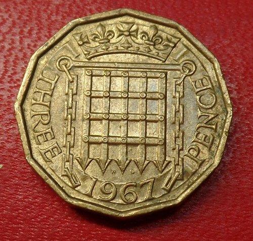 1967 three pence g.b.# 12