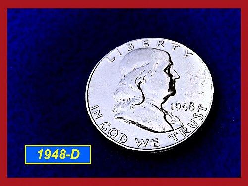1948-D Franklin Half Dollar ––– Strong Bell Lines  (#1540)