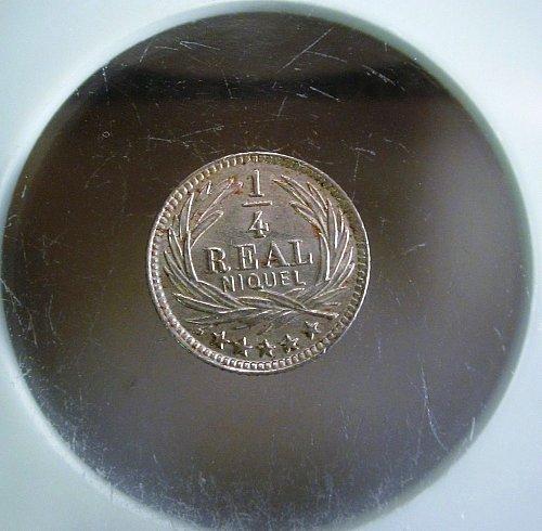 Guatemala 1900 H ¼ Real Niquel