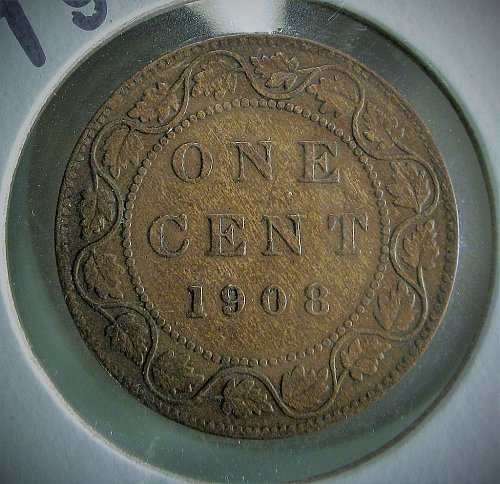 Canada 1908 Large One Cent - Edward VII