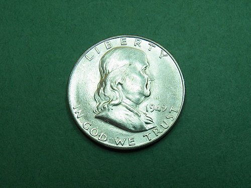 1949 S Franklin Half Dollar Brilliant Uncirculated Coin   h41