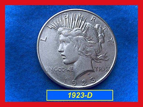 "19223-D PEACE Silver Dollar •••  ""XF""   (#5246)"