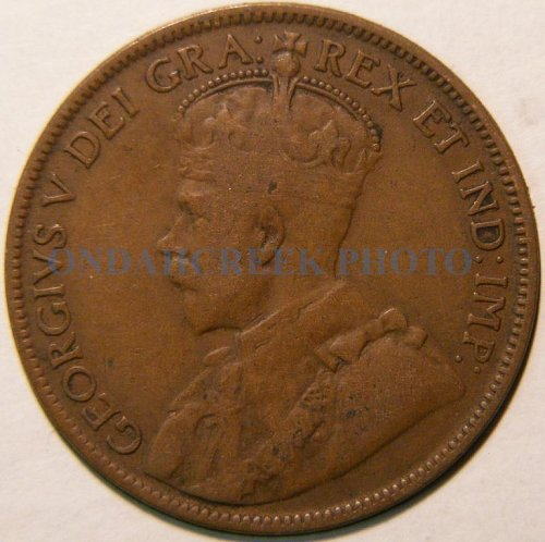 1918 Canada Large Cent KM #21 Fine