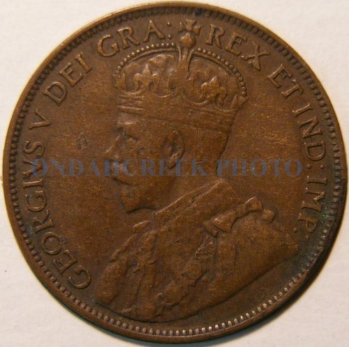 1918 Canada Large Cent KM #21 Very Fine