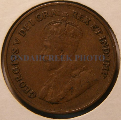 1921 Canada Small Cent KM #28 Very Fine