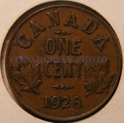 1928 Canada Small Cent KM #28 XF