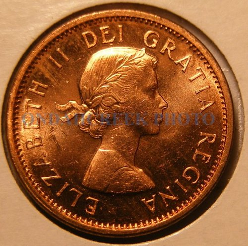 1960 Canada Small Cent KM #49 PL-63