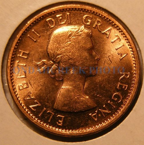 1960 Canada Small Cent KM #49 PL-62