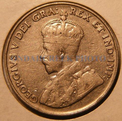 1935 Canada Nickel Five Cents KM #29 Fine