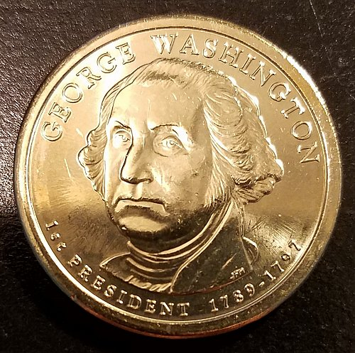 2007-D George Washington Presidential Dollar - From Mint Roll (6460)