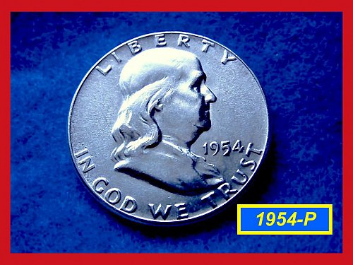 1954-P  Franklin Half Dollar –––     (#1557)