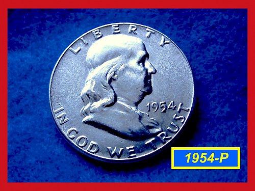 1954-P  Franklin Half Dollar –––     (#1557)