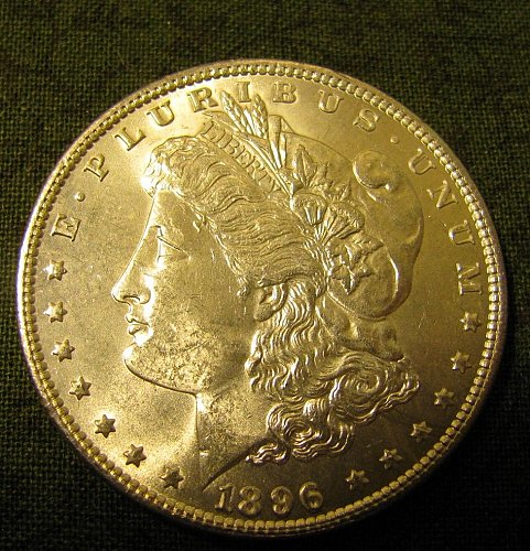 1896 Morgan Silver Dollar GEM BU   #56