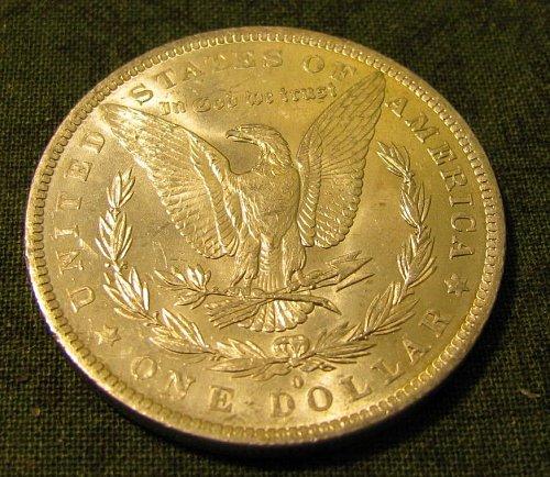 1882-0 morgan Silver Dollar  gem BU#57-