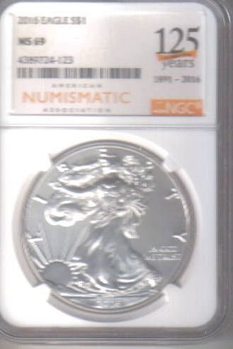 A N A  125th  Commemorative SILVER EAGLE