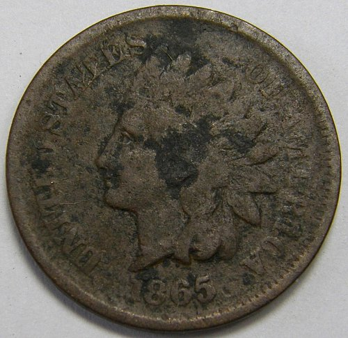 1865 Indian Head Cent #15