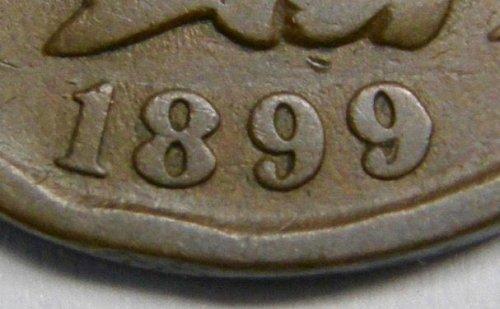 1899 Indian Head Cent #11  SNOW 2  RPD 8 & 9