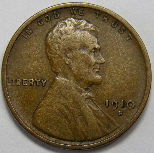 1910 S Lincoln Wheat Cent #8