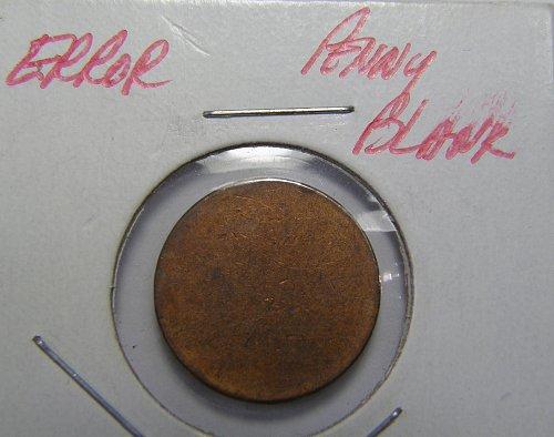 Copper Cent Blank Planchet