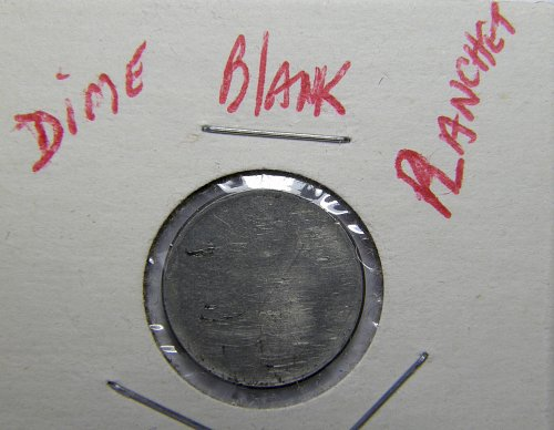 Copper-Nickel  Dime  Blank Planchet