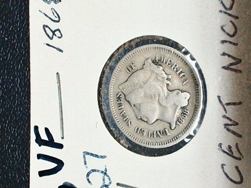 1968 3 Cent Nickel VF-20+