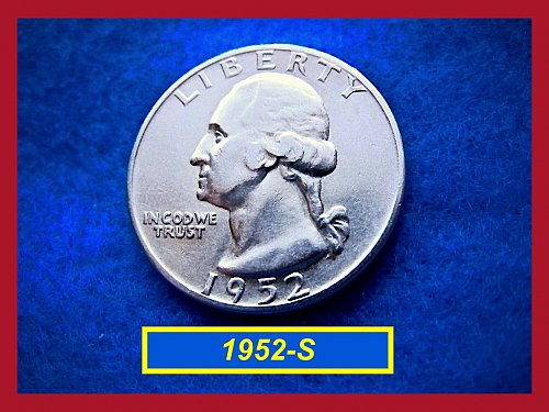 "1952-S   ""VF-35"" Washington Quarter ••• (#2416)"