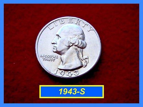 1943-S Washington SILVER Quarter   (#2226)
