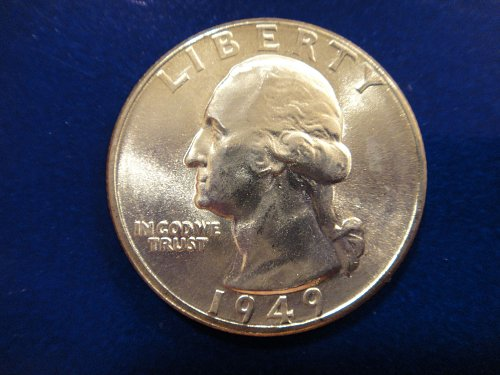1949-D Washington Quarter MS-65 (GEM) Gorgeous BLAST WHITE Coin!