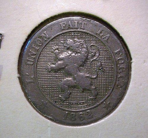 Belgium 1862 5 Centimes