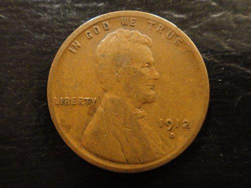 1912-D Lincoln Cent Fine-12 Nice Honest Wear & Minimal Marks